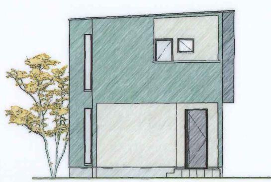 分譲住宅とは思えない外観デザイン